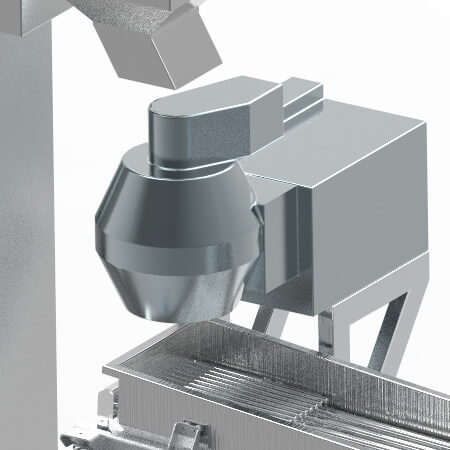 Maquinaria para procesado patata, soporte cortadora
